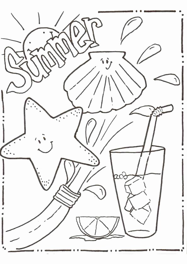 Summer Coloring Worksheets for Preschoolers Free Summer Coloring Pages for Kids Print them All for Free