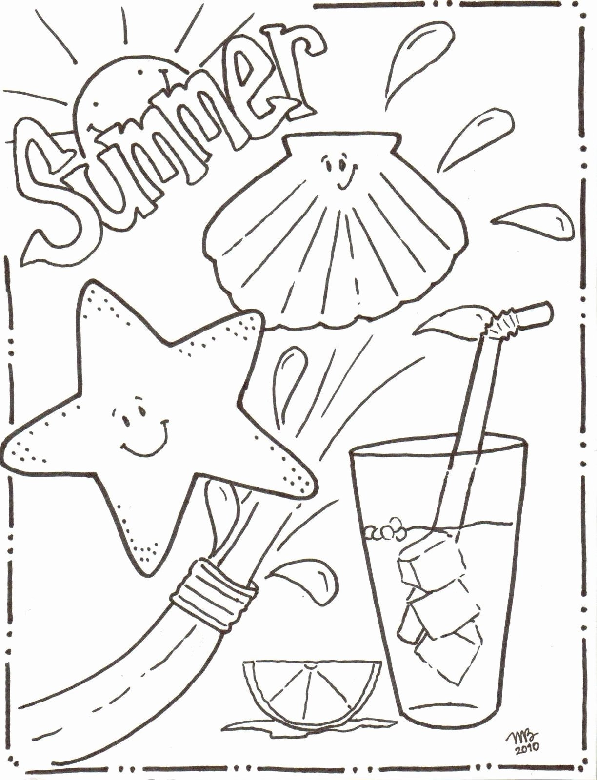 Summer Coloring Worksheets for Preschoolers Fresh Summertime Coloring Sheets