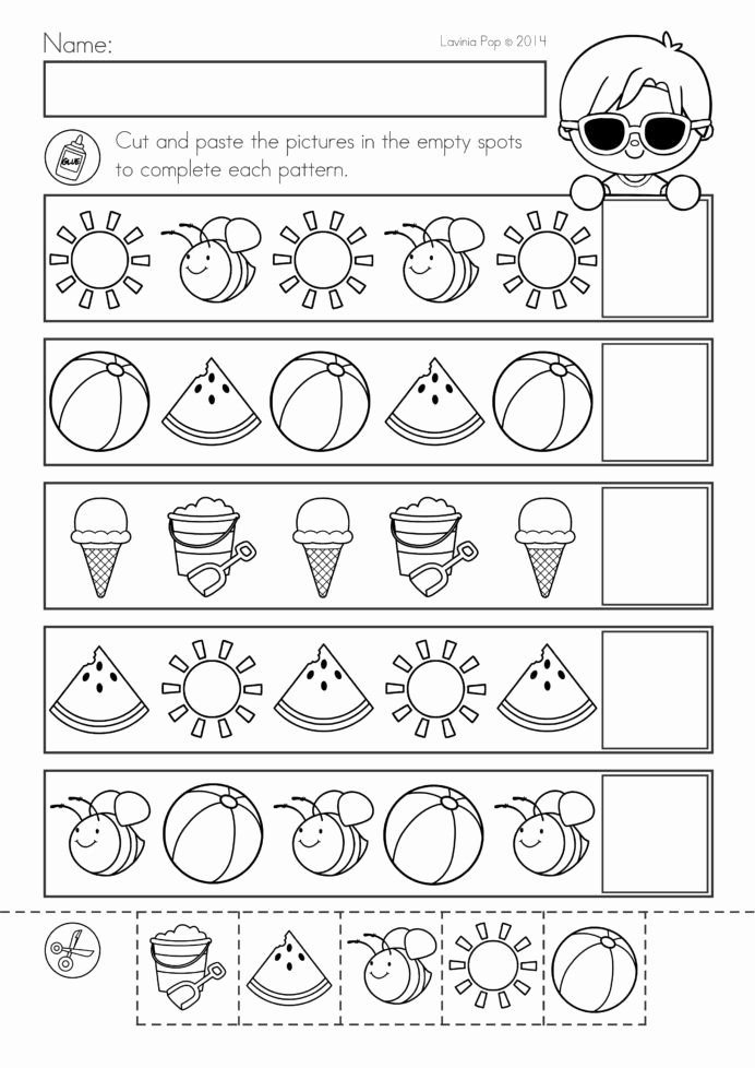 Summer Fun Worksheets for Preschoolers Kids Coloring Pages Worksheet Free Printable toddler Worksheets
