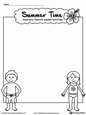 Summer Fun Worksheets for Preschoolers New Drawing Summer Activities Printable Worksheet