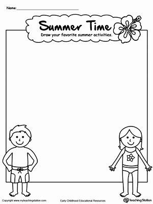 Summer Worksheets for Preschoolers Best Of Drawing Summer Activities Printable Worksheet