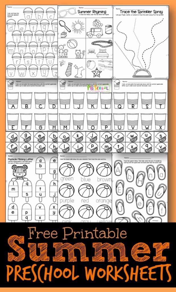Summer Worksheets for Preschoolers Kids Free Summer Preschool Worksheets