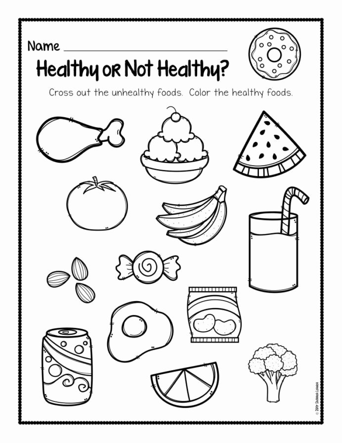 Super Teacher Worksheets for Preschoolers Printable Healthy Foods Worksheet Free Habits for Kids Super Teacher