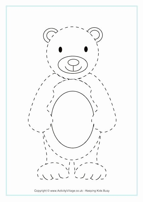 Teddy Bear Worksheets for Preschoolers Best Of Bear Tracing Page