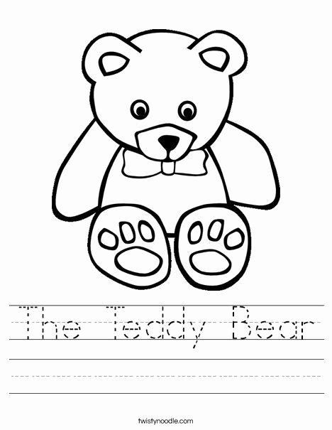Teddy Bear Worksheets for Preschoolers New T is for Teddy Bear the Teddy Bear Worksheet From
