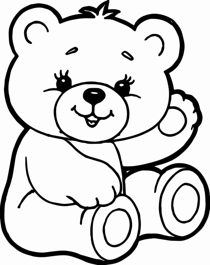 Teddy Bear Worksheets for Preschoolers Printable Teddy Bear Coloring Luxury Color Sheet Cute Bears