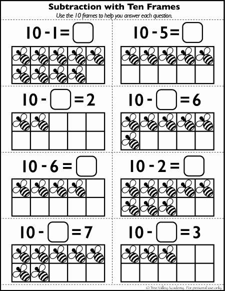Ten Frame Worksheets for Preschoolers Free Free Number 10 Worksheets for Kindergarten Grade 1