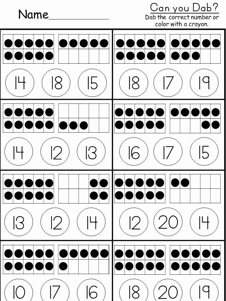 Ten Frame Worksheets for Preschoolers Free Free Tens and Es Worksheet Kindermomma