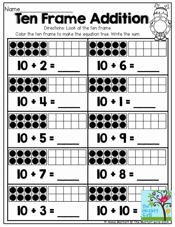 Ten Frame Worksheets for Preschoolers Lovely December Fun Filled Learning with No Prep