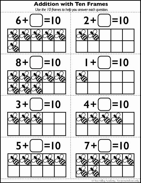 Ten Frame Worksheets for Preschoolers Lovely Free Number 10 Worksheets for Kindergarten Grade 1