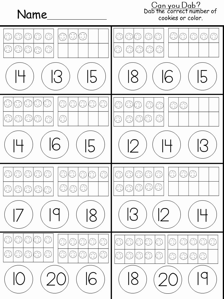 Ten Frame Worksheets for Preschoolers New Free Tens and Es Printable Kindermomma