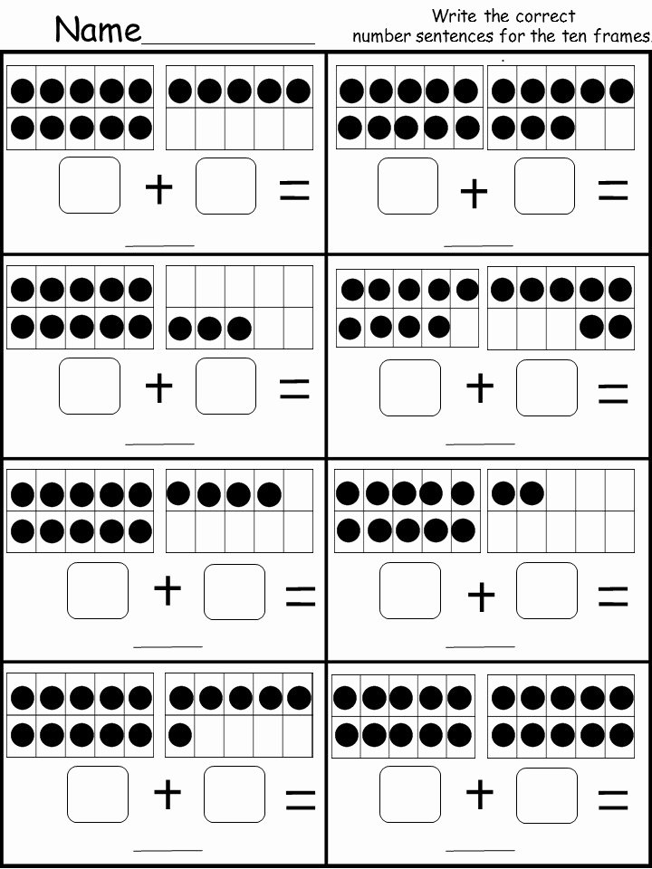 Ten Frame Worksheets for Preschoolers top Free Ten Frame Addition Printable Kindermomma