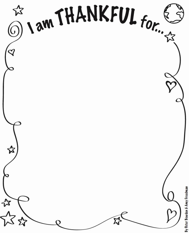 "Thankful Worksheets for Preschoolers Fresh I Am Thankful for"" Activity Sheet"