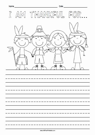 Thankful Worksheets for Preschoolers Ideas Am Thankful for Free Printable Allfreeprintable Thanksgiving