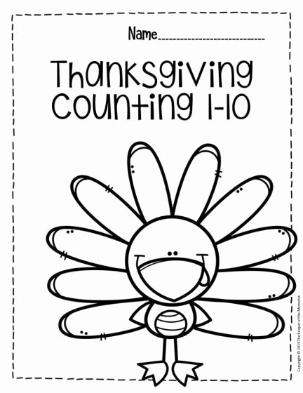 Thankful Worksheets for Preschoolers Ideas Free Printable Thanksgiving Numbers Preschool Worksheets for