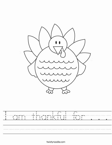 Thankful Worksheets for Preschoolers Ideas I Am Thankful for Worksheet