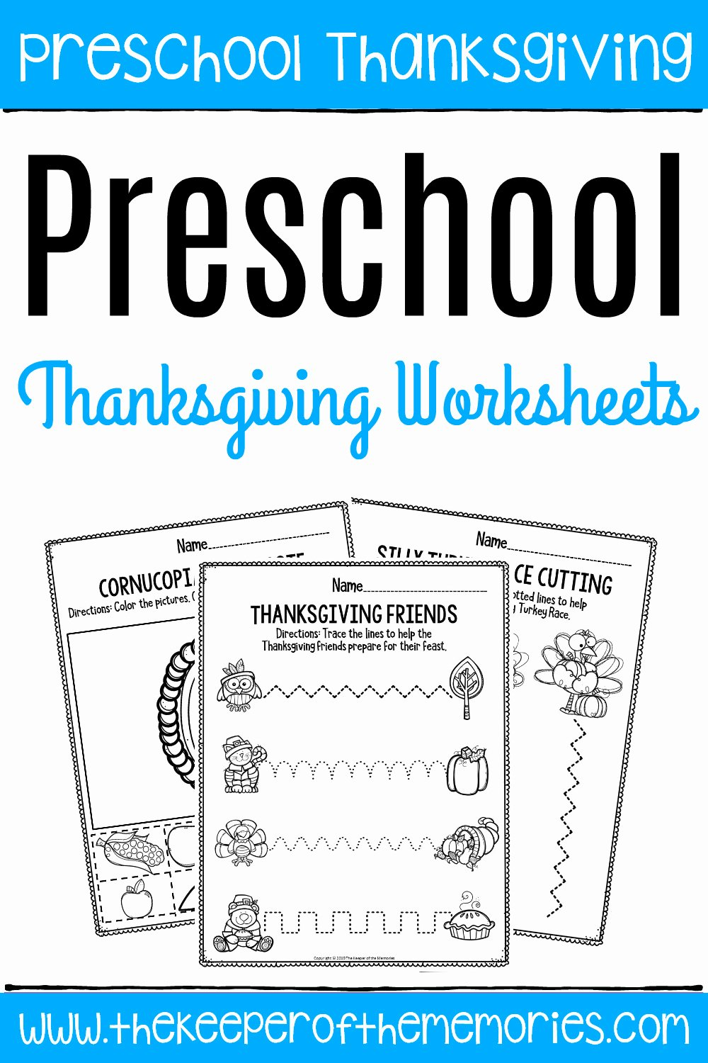Thankful Worksheets for Preschoolers Lovely Printable Fine Motor Thanksgiving Preschool Worksheets