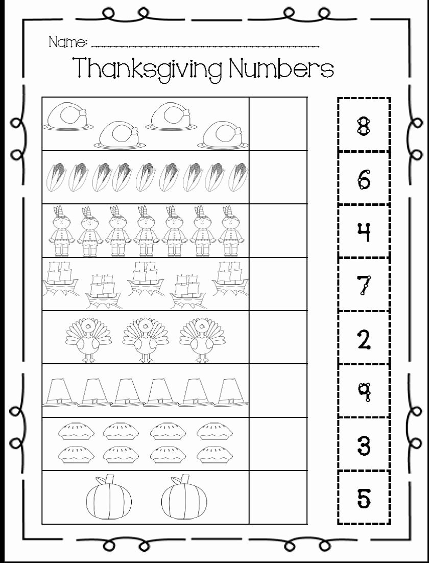 Thanksgiving Counting Worksheets for Preschoolers Best Of I Heart My Kinder Kids