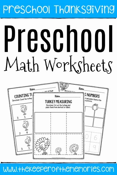 Thanksgiving Counting Worksheets for Preschoolers Kids Worksheet Worksheet Stunning Math Worksheets for Preschool