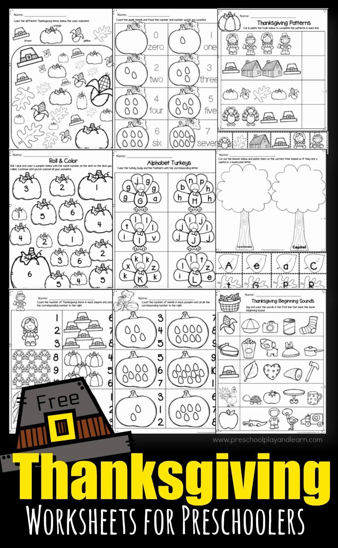 Thanksgiving Counting Worksheets for Preschoolers top Thanksgiving Worksheets for Preschoolers