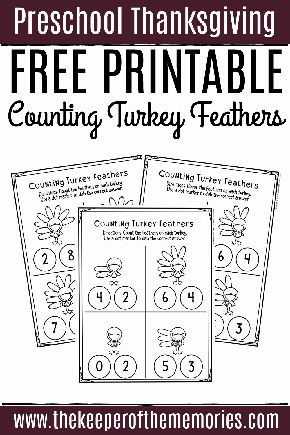 Thanksgiving Worksheets for Preschoolers Inspirational Free Printable Counting Thanksgiving Preschool Worksheets