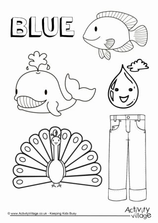 The Color Blue Worksheets for Preschoolers Inspirational Colour Collection Colouring Pages