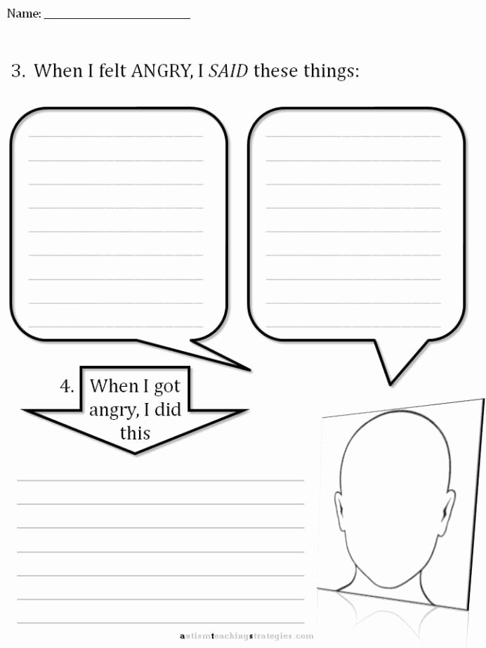 Therapy Worksheets for Preschoolers Lovely Free social Thinking Worksheets Cbt Children Emotion