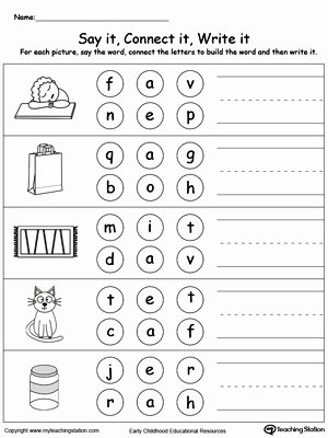 Three Letter Words Worksheets for Preschoolers Kids Coloring Pages Flash Cards Anagram Puzzle Worksheets