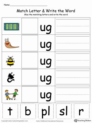 Three Letter Words Worksheets for Preschoolers Kids Coloring Pages Kindergarten Building Words Printablets Ug