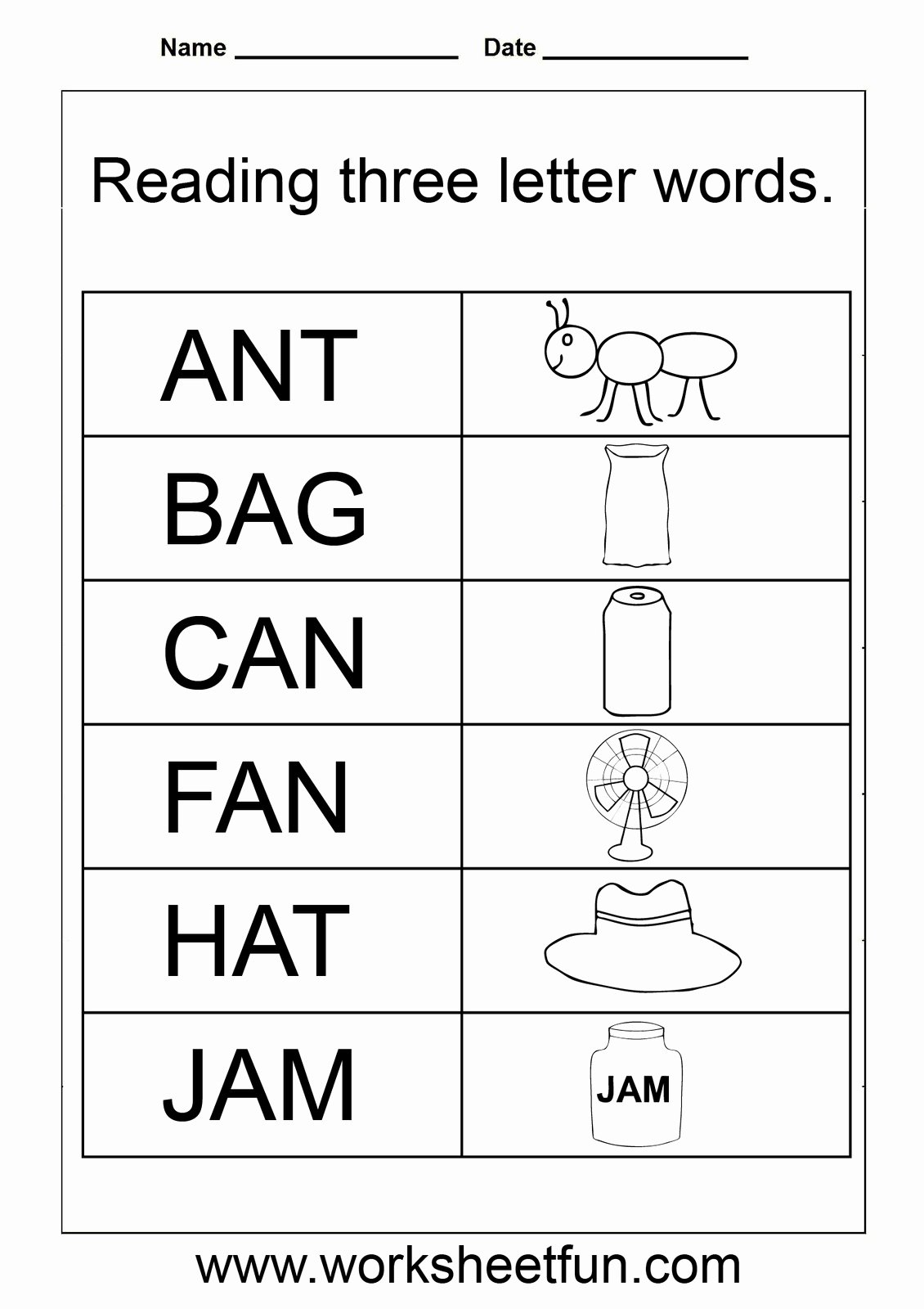 Three Letter Words Worksheets for Preschoolers Lovely 3 Letter Words Worksheets for Kindergarten