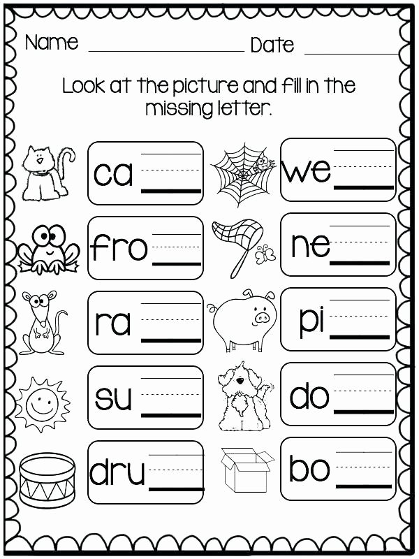 Three Letter Words Worksheets for Preschoolers New Missing Letters Worksheets for Kindergarten Three Letter