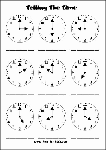 Time Worksheets for Preschoolers Inspirational Telling the Time Worksheets