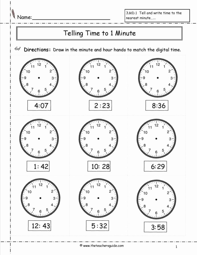 Time Worksheets for Preschoolers New Telling Time Worksheets Hour Printable and Activities Clock