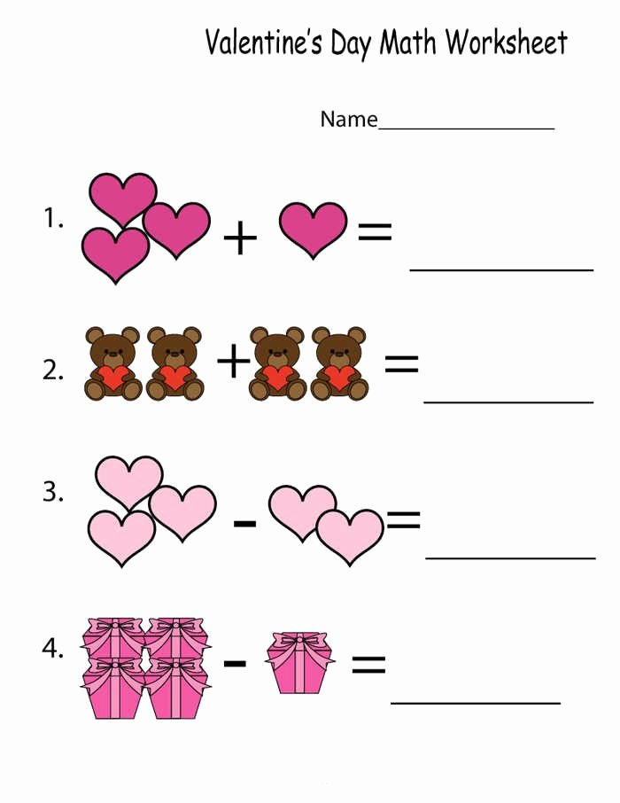 Time Worksheets for Preschoolers Printable Kindergarten Math Worksheets Printable In Valentine