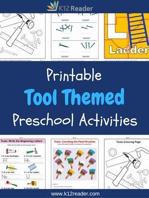 Tools Worksheets for Preschoolers Best Of tools Preschool theme Activities