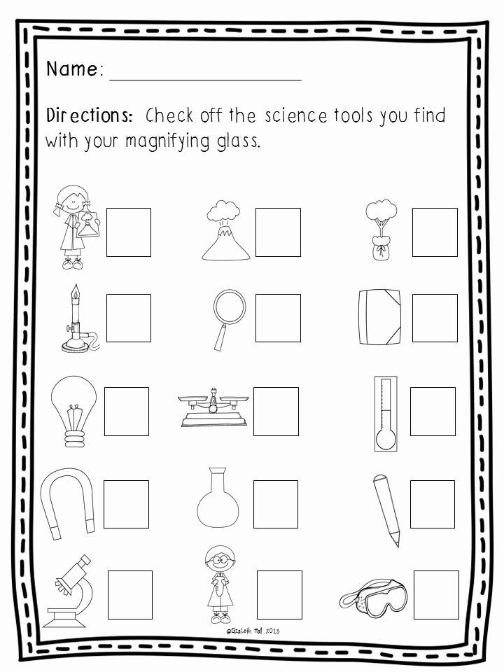 Tools Worksheets for Preschoolers Fresh Science tools Freebie