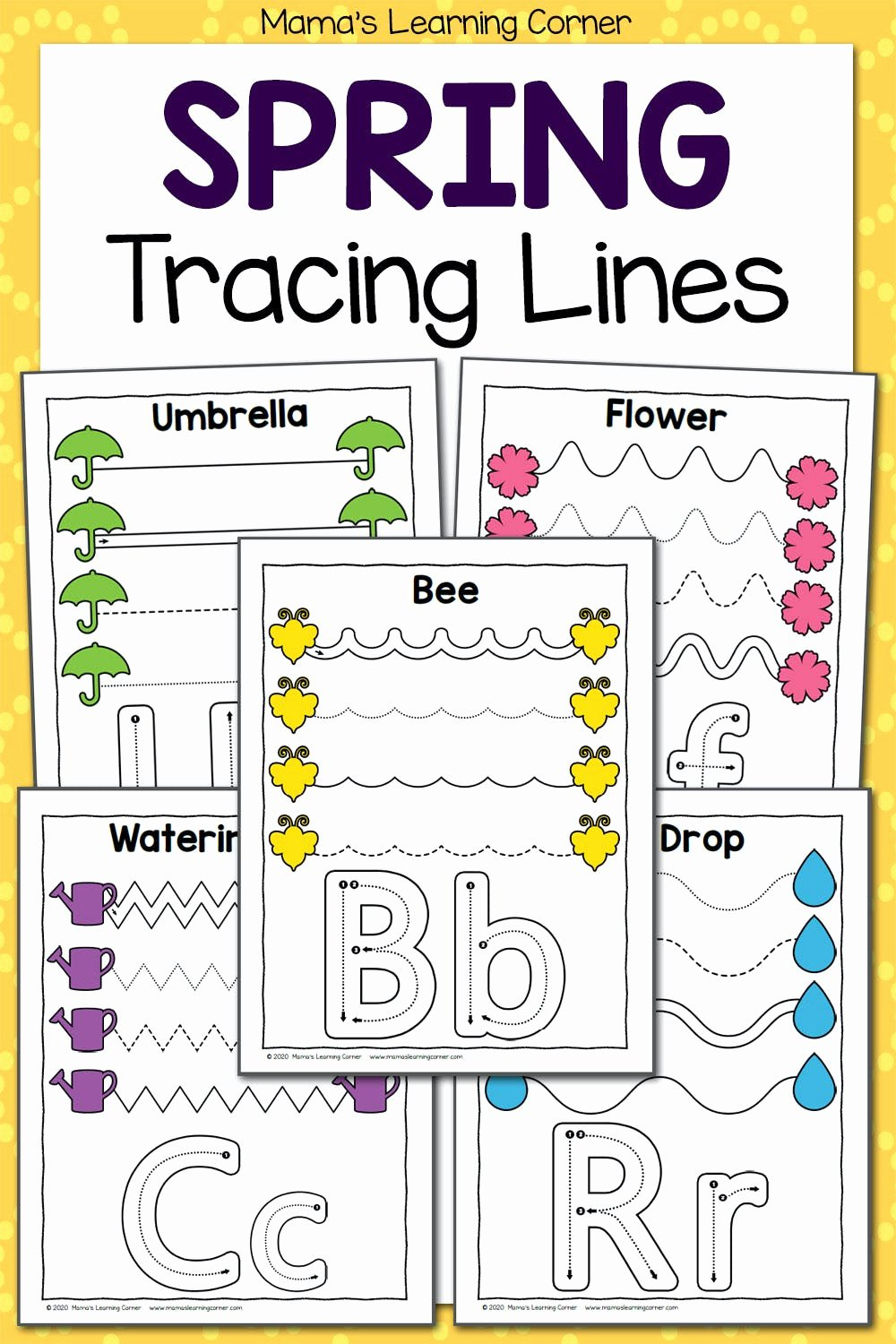 Trace the Lines Worksheets for Preschoolers Best Of Spring Tracing Worksheets for Preschool Mamas Learning Corner