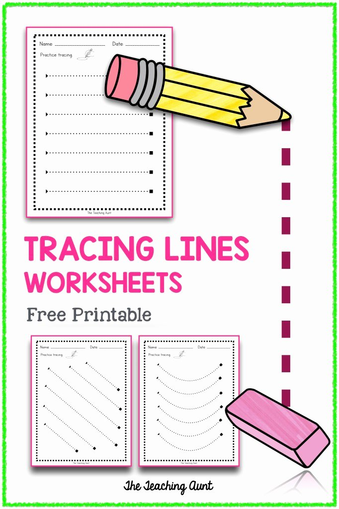 Trace the Lines Worksheets for Preschoolers Inspirational Tracing Lines Worksheets the Teaching Aunt