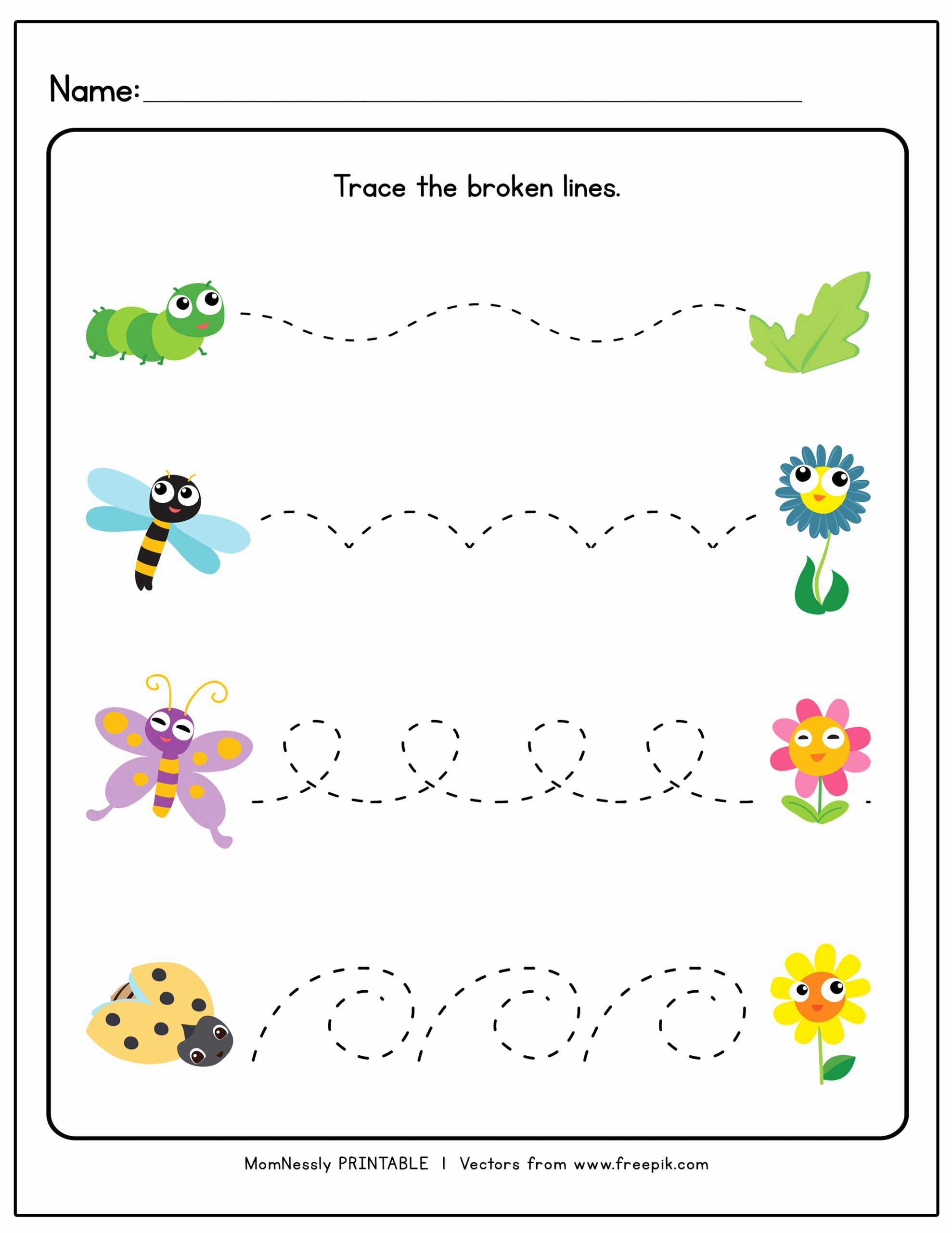 Trace the Lines Worksheets for Preschoolers Lovely Tracing Lines Worksheets Https Tribobot for toddlers Curved