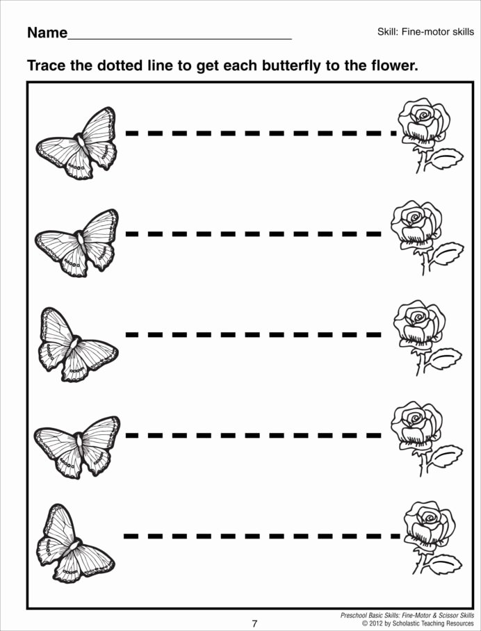 Trace the Lines Worksheets for Preschoolers Printable Preschool Line Tracing Worksheets Pdf Worksheet Simple