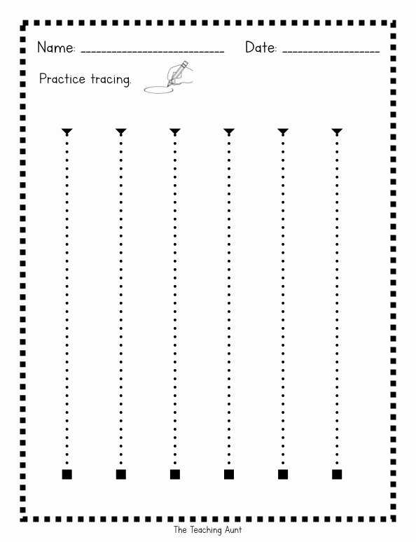 Trace the Lines Worksheets for Preschoolers Printable Tracing Lines Worksheets the Teaching Aunt