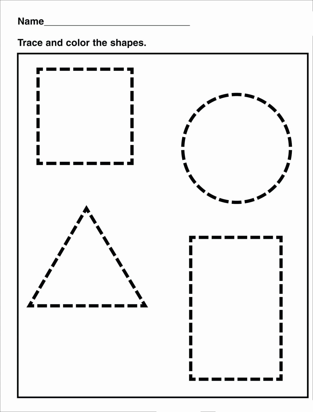 Traceable Shapes Worksheets for Preschoolers Free Worksheet Tracing Shapes Worksheetsor Preschoolers