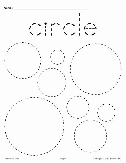 Traceable Shapes Worksheets for Preschoolers Fresh 12 Shapes Tracing Worksheets