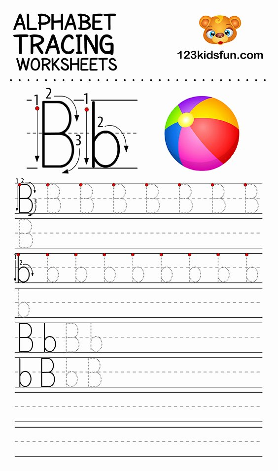 Tracing Abc Worksheets for Preschoolers Inspirational Alphabet Tracing Worksheets A Z Free Printable for Kids