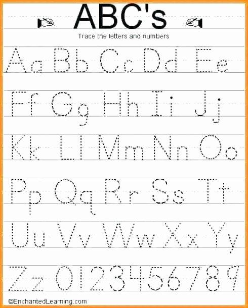 Tracing Letter Worksheets for Preschoolers Free Lowercase Tracing Worksheet Kindergarten Alphabet Worksheets