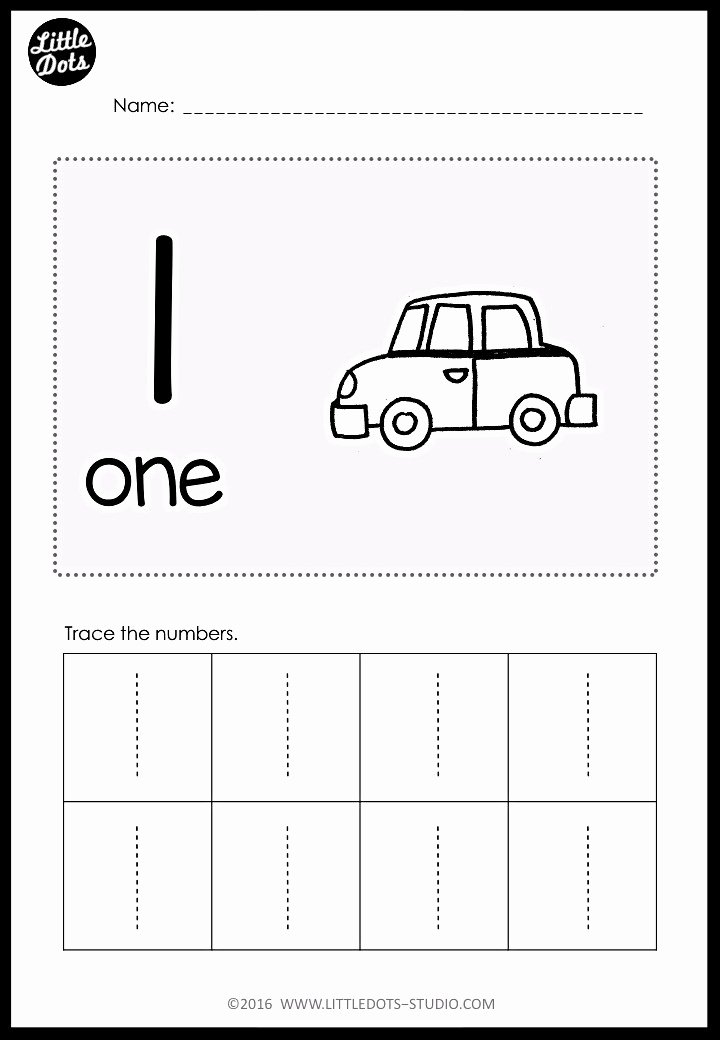 Tracing Numbers 1 Worksheets for Preschoolers Kids Pre K Numbers 1 to 10 Worksheets and Activities