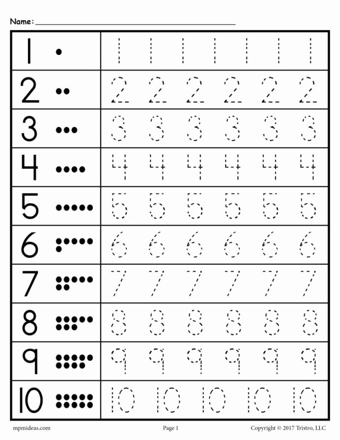 Tracing Numbers 1 Worksheets for Preschoolers top Tracing Worksheets Numbers Supplyme 20tracing 20worksheet