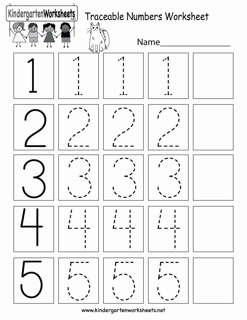 Tracing Numbers Worksheets for Preschoolers Free Number Tracing Worksheets for Preschoolers In 2020
