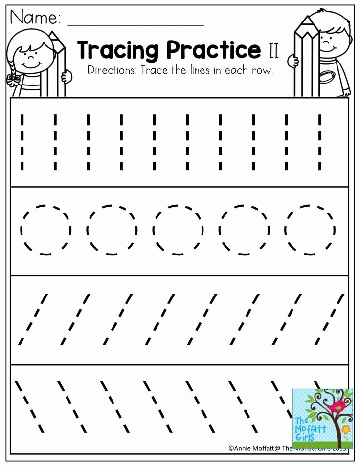 Tracing Worksheets for Preschoolers Best Of Back to School Packets with Tracing Worksheets