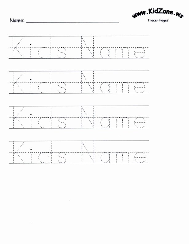 Tracing Your Name Worksheets for Preschoolers Fresh Customizable Printable Letter Pages Name Tracing Worksheets